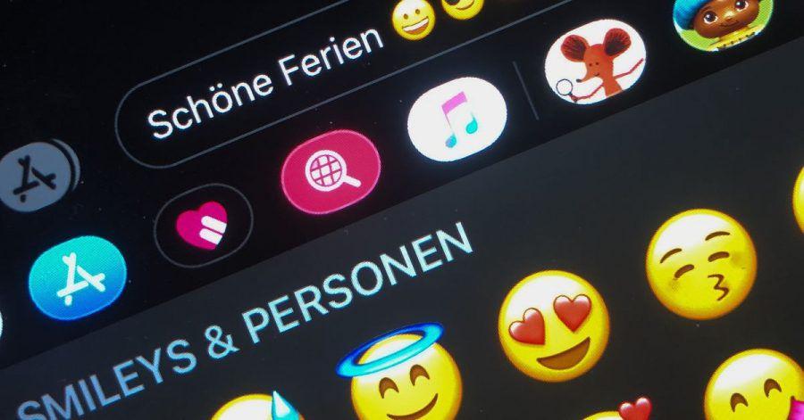 Die Auswahl an Emojis ist groß.