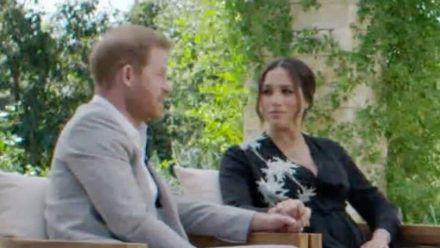Prinz Harry und Herzogin Meghan bei ihrem aufsehenerregenden Interview. (jom/spot)