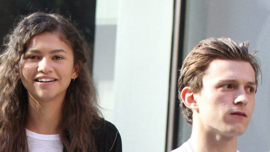Zendaya und Tom Holland bei gemeinsamen Dreharbeiten. (hub/spot)