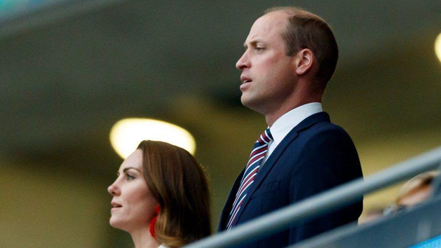 Herzogin Kate und Prinz William beim EM-Finale Italien gegen England im Londoner Wembley-Stadion. (dr/spot)