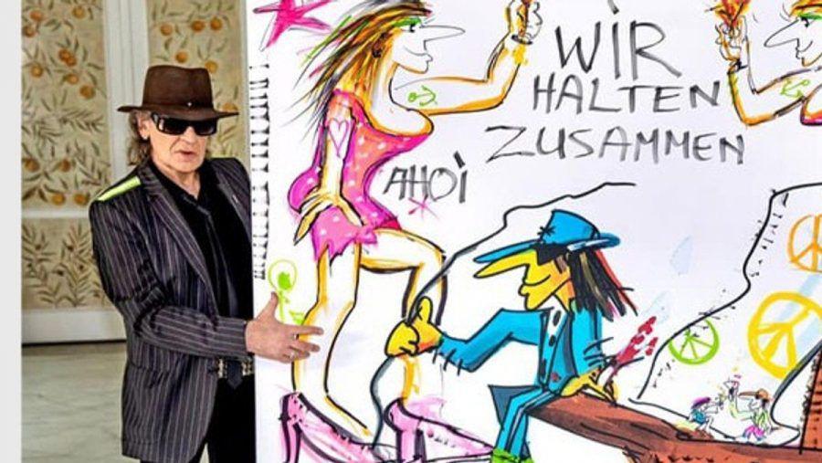 Das von Udo Lindenberg gemalte Kunstwerk wurde im Rahmen einer Spendenaktion der ARD versteigert. (nra/spot)