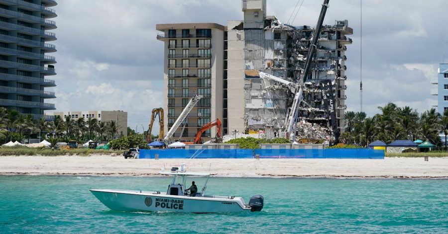 Die Ruine des Hochhauses in Miami soll gesprengt werden.
