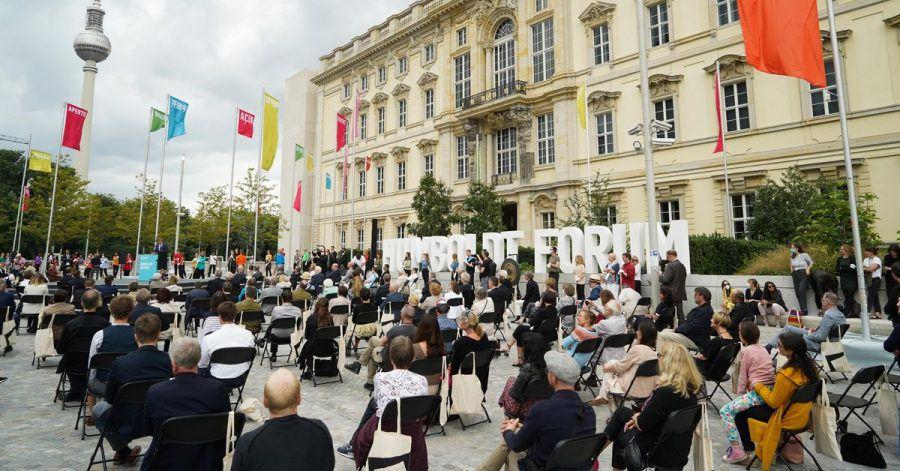 Zahlreiche Gäste kamen zur feierlichen Eröffnung des Humboldt-Forums.