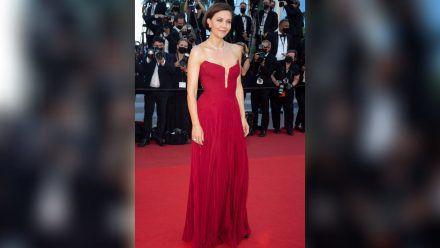 Maggie Gyllenhaal bei ihrem Auftritt in Cannes. (hub/spot)