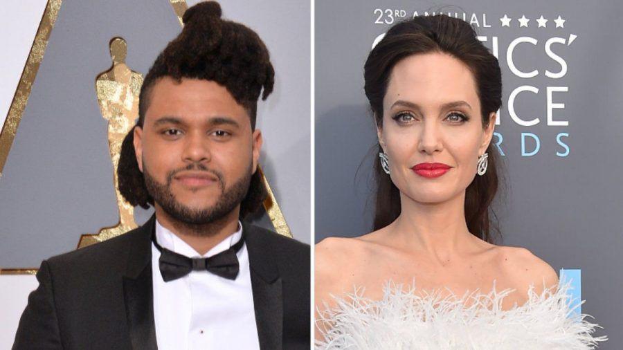 The Weeknd und Angelina Jolie sollen ein Date gehabt haben.  (amw/spot)