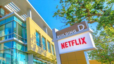 Ein Gebäude des Netflix-Hauptquartiers in Los Gatos Kalifornien. (rto/spot)