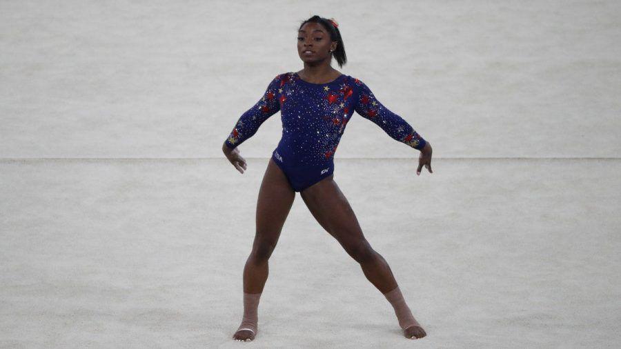 Simone Biles bei einem ihrer Wettkämpfe. (hub/spot)