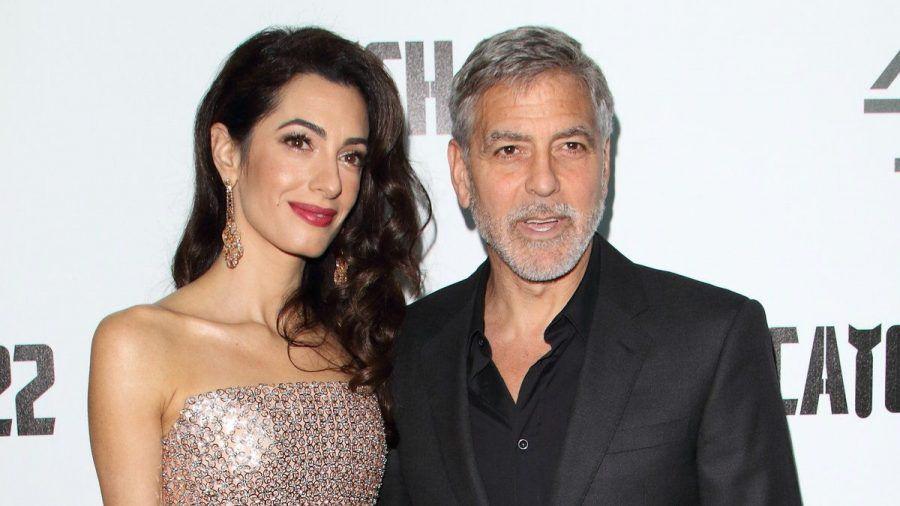 George und Amal Clooney bei einem gemeinsamen Auftritt in London. (hub/spot)