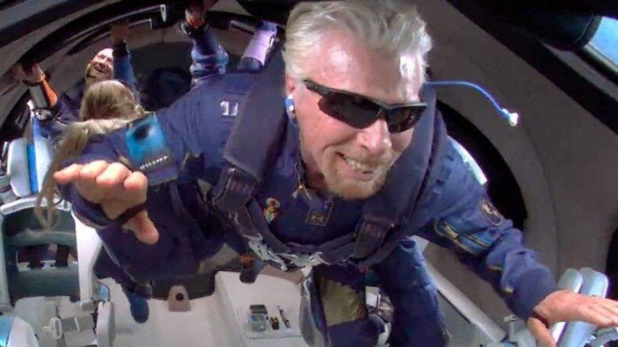 """Richard Branson ist in einer """"Die Simpsons""""-Folge bereits viel früher auf dem Weg ins All. (nra/spot)"""