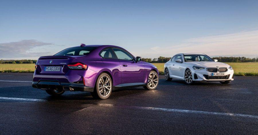 Klare Fronten: Auch die Neuauflage des BMW 2er Coupé rollt in der Regel mit Heckantrieb auf die Straße. Beim M240i xDrive (l.) ist ein hinterachsbetontes Allradsystem serienmäßig.