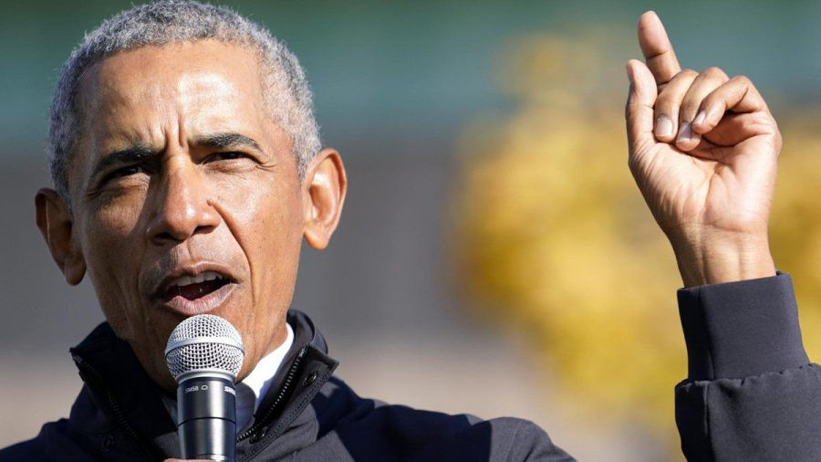 Barack Obama bei einem Auftritt in Michigan. (hub/spot)