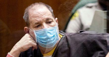 Harvey Weinstein während einer Anhörung vor Gericht in Los Angeles.