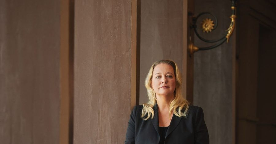 Die künstlerische Leiterin und Geschäftsführerin der Bayreuther Festspiele, Katharina Wagner im Festspielhaus.
