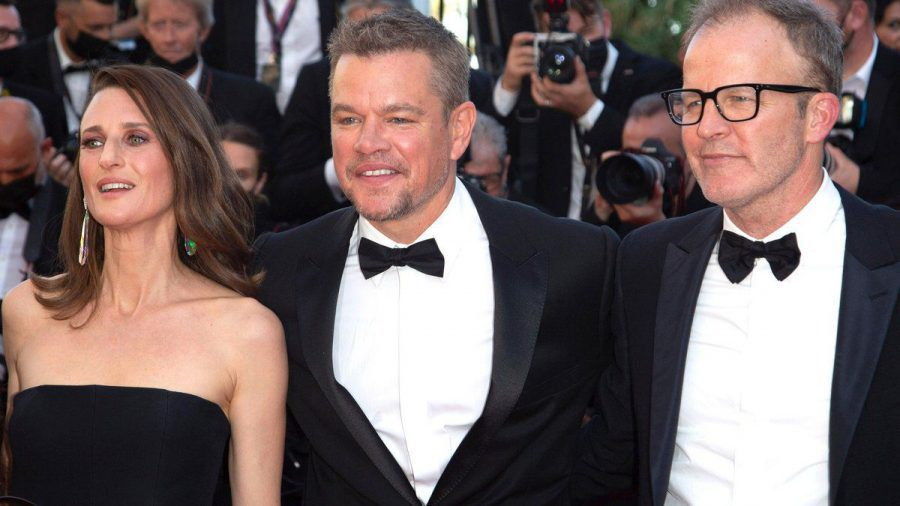 Camille Cottin, Matt Damon und Tom McCarthy (v.l.) in Cannes (jom/spot)