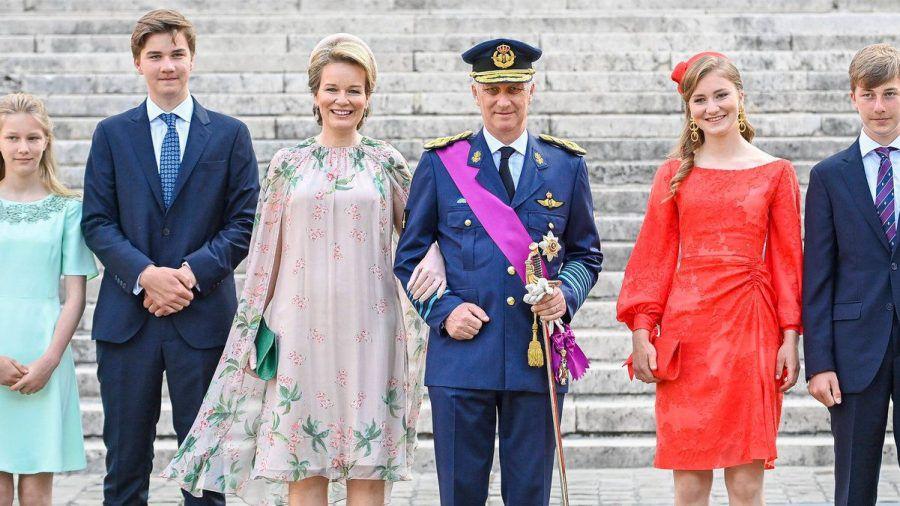 Die belgischen Royals am Nationalfeiertag in Brüssel. (hub/spot)