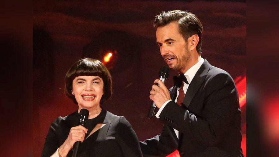 Mireille Mathieu und Florian Silbereisen 2018 bei einer Liveshow der ARD (jom/spot)