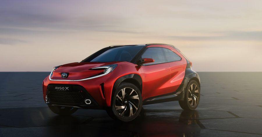 Zwerg blickt in Zukunft: Mit der Studie Aygo X Prologue dürfte Toyota bereits auf das Design des neuen Aygo hinweisen.