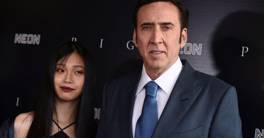Nicolas Cage mit seiner Ehefrau Riko Shibata in Los Angeles.