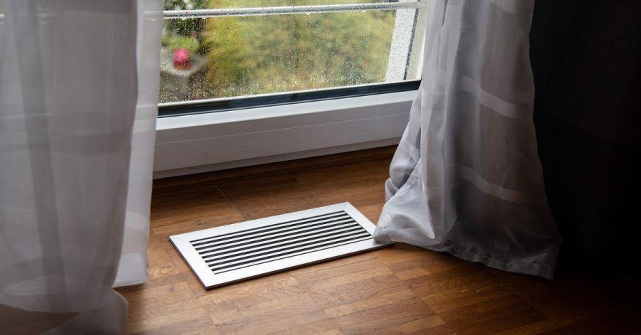 Eine Lüftungsheizung kümmert sich um den Luftaustausch im Gebäude - man muss dafür also nicht die Fenster händisch öffnen.
