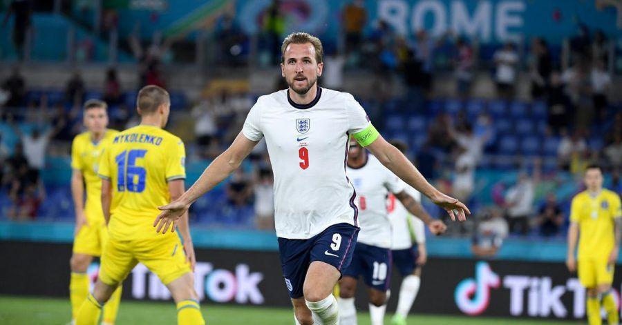 Englands Harry Kane bejubelt sein zweites Tor im Viertelfinale.