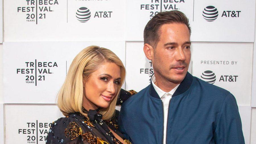 Paris Hilton und ihr Verlobter, Carter Reum, im Juni in New York (wue/spot)