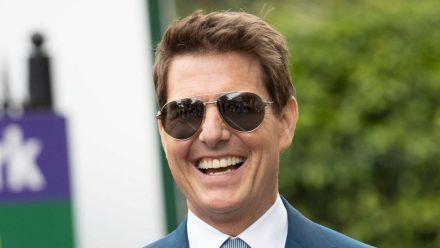 Tom Cruise am gestrigen Sonntag beim Wimbledon-Finale. (dr/spot)