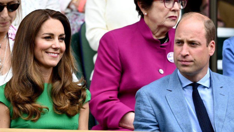 Herzogin Kate und Prinz William auf der Tribüne von Wimbledon. (hub/spot)