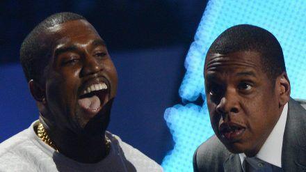 Kanye West (l.) und Jay-Z haben wieder einen gemeinsamen Song gemacht. (dr/spot)