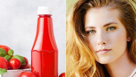Ketchup gibt ausgebleichtem, geschädigtem Haare Glanz und Farbe zurück. (sob/spot)