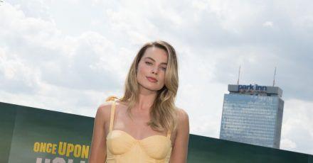 """Margot Robbie 2019 in Berlin vor der Deutschlandpremiere des Films """"Once Upon a Time in Hollywood""""."""