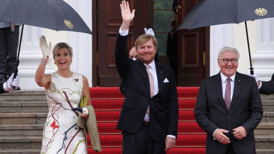 Das niederländische Königspaar Máxima und Willem-Alexander besuchte Bundespräsident Frank-Walter Steinmeier in Berlin. (ili/spot)