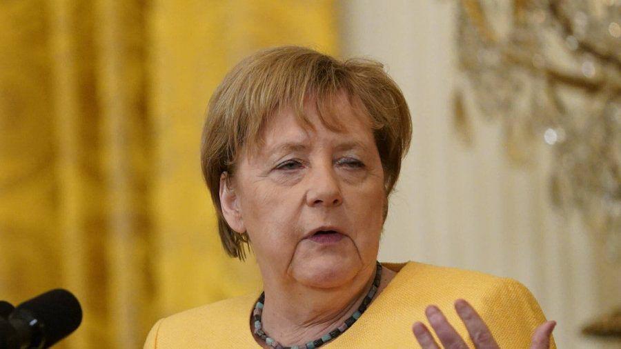 Bundeskanzlerin Angela Merkel während ihres letzten Staatsbesuchs in Washington. (dr/spot)