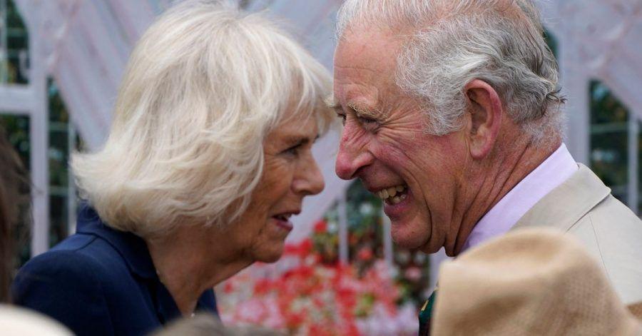Der britische Prinz Charles und seine Frau Camilla sind offenbar guter Dinge.