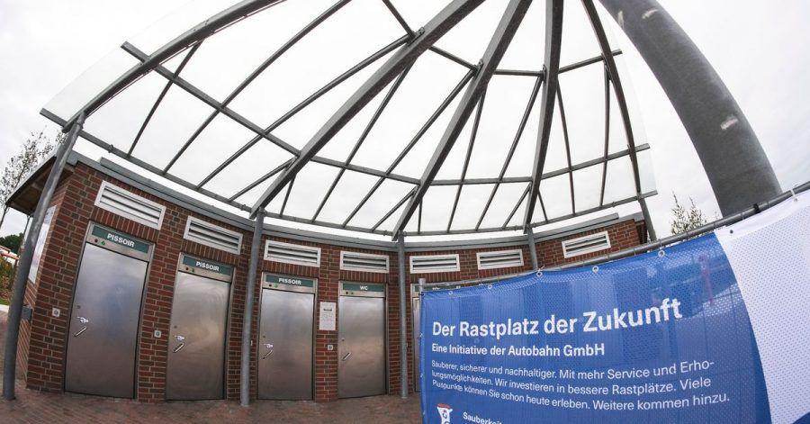 Der frisch renovierte Rastplatz «Ostseeblick» an der Autobahn 1 wurde nun ale Pilotanlage eingeweiht.