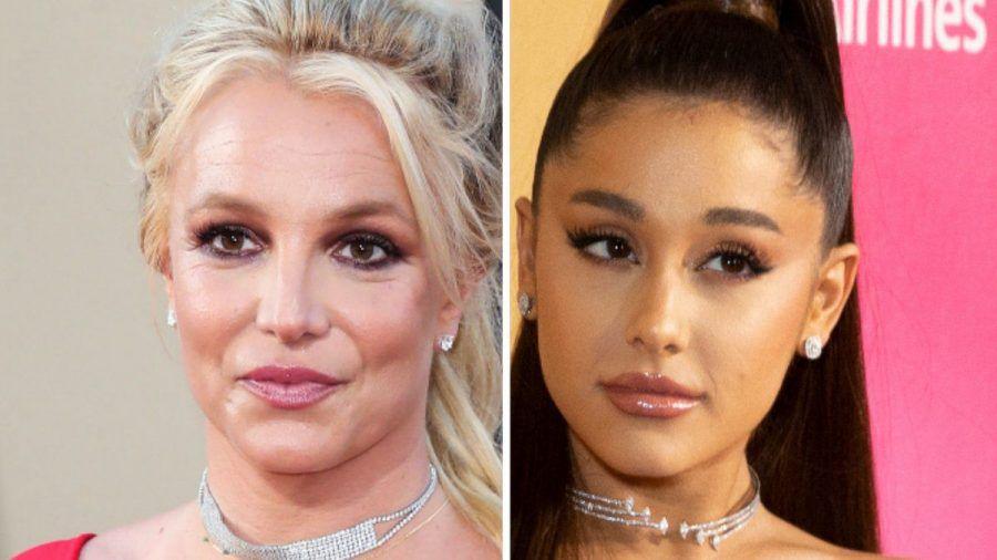 Britney Spears (li.) erhält unter anderem Unterstützung von Ariana Grande. (jom/spot)