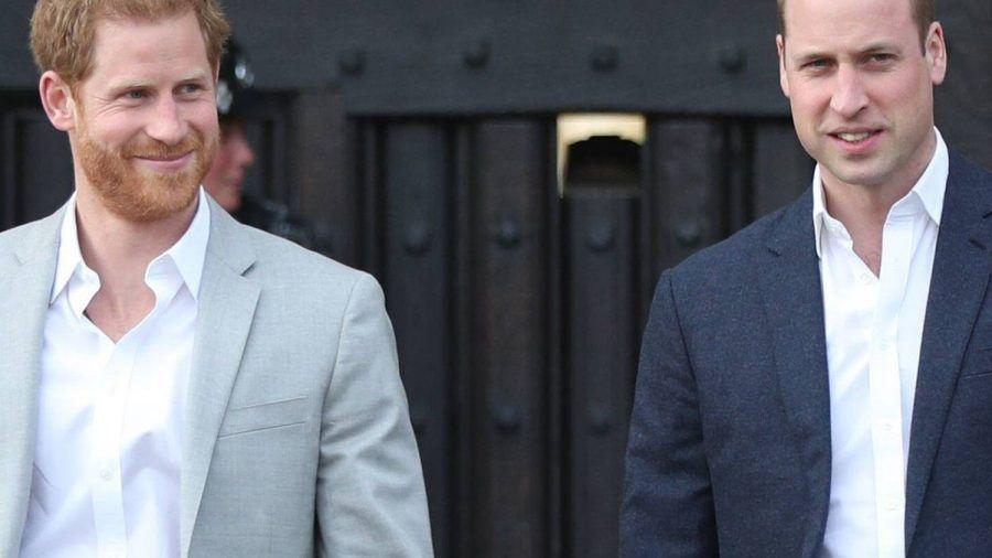 Prinz Harry (li.) und Prinz William wurden bei der Hochzeit von Kitty Spencer nicht gesichtet.  (nra/spot)