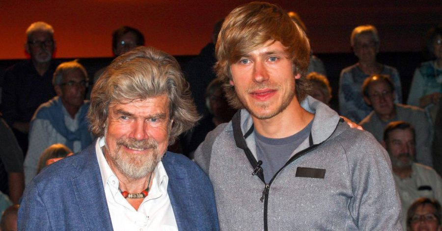 """Reinhold Messner und sein Sohn Simon  in der ZDF-Talkshow """"Markus Lanz""""."""