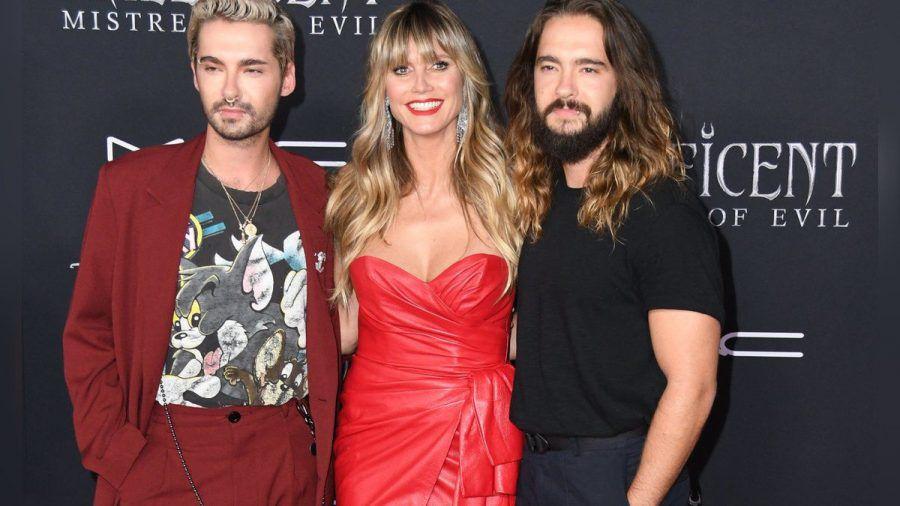 Bill Kaulitz, Heidi Klum und Tom Kaulitz (v.l.n.r.) (mia/spot)