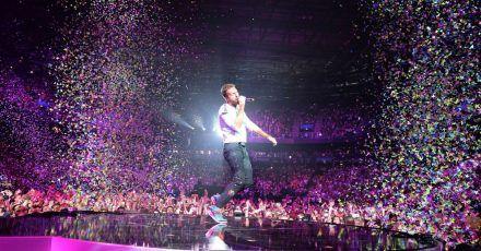 Chris Martin von Coldplay beim ersten Global Citizen Festival in Hamburg 2017.