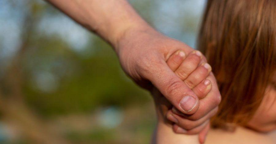 Ein junger Vater hält am Strand eines Sees die Hand seines kleinen Sohnes.Die Zahl der Neugeborenen in Europa und den USA ist wegen der Corona- Pandemie teilweise deutlich zurückgegangen.