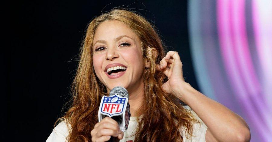 Shakira, Sängerin aus Kolumbien, spricht auf einer Pressekonferenz. (Archivbild)