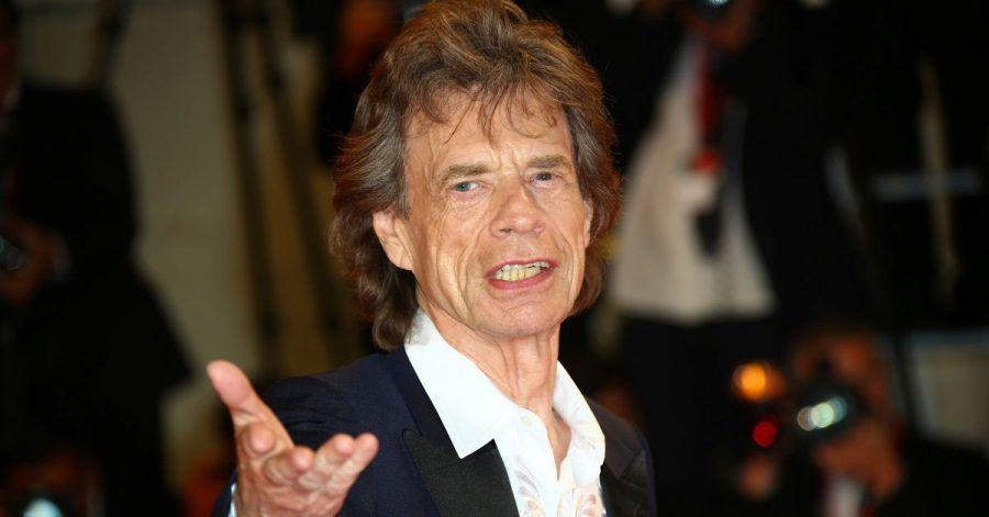Musiker und Rocksänger der Rolling Stones, Mick Jagger, kommt zu einer Filmpremiere.