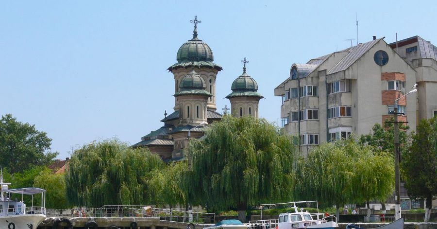 Die orthodoxe Kathedrale in Sulina wirkt in heutigen Tagen doch eher wuchtig.