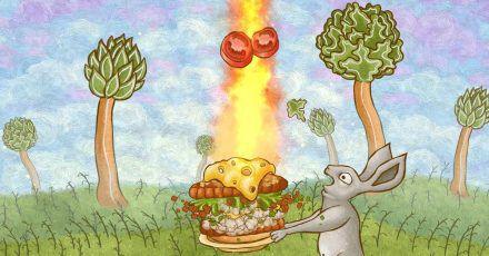 Noch was Gemüse auf den Burger, soll ja auch gesund sein.