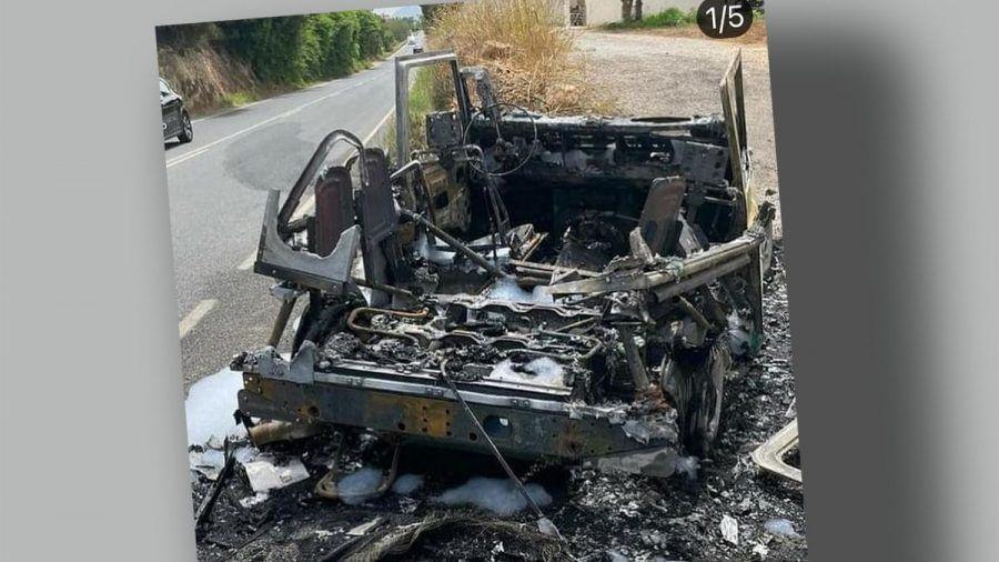 Thomas Anders & Sohn entkommen diesem Feuer-Inferno