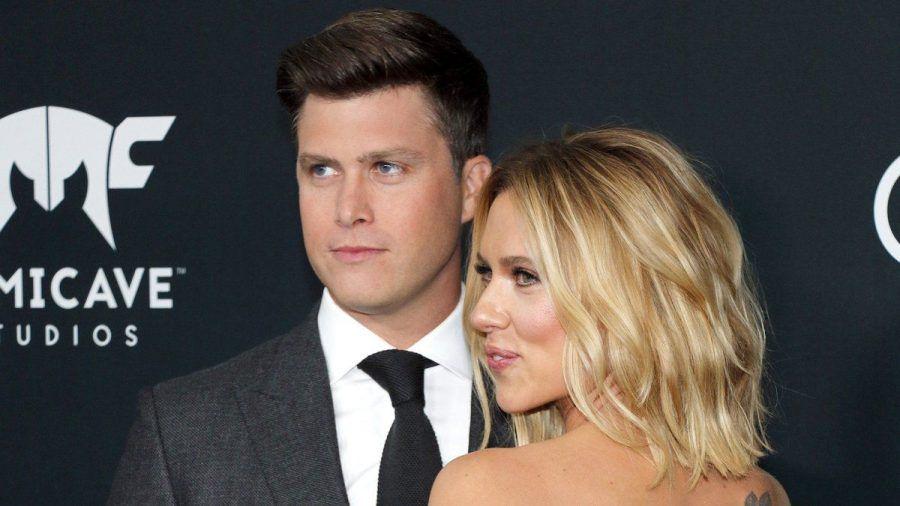 """Colin Jost und Scarlett Johansson auf der Premiere von """"Avengers: Endgame"""". (wue/spot)"""
