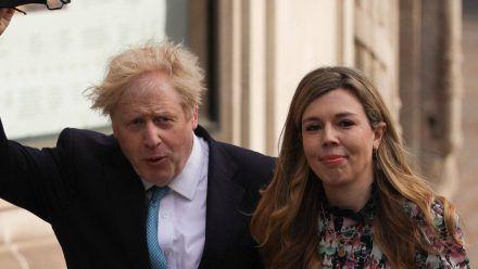 Boris Johnson und seine Ehefrau Carrie im vergangenen Mai (wue/spot)