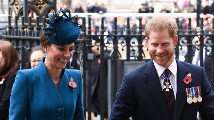Herzogin Kate und Prinz Harry 2019 bei einem gemeinsamen Auftritt in London. (hub/spot)