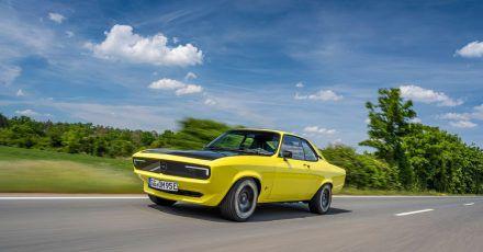 Zurück in die Zukunft: Den Opel Manta GSe Elektromod treibt ein Elektromotor an.