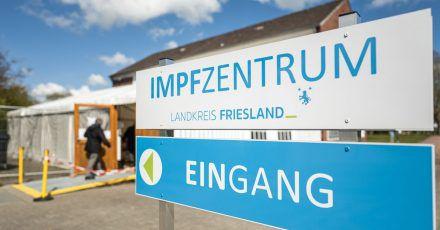 Das Impfzentrum des Landkreises Friesland in Schortens.